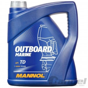 4 Liter Mannol Outboard Marine 2-Takt Mischöl 2-Takt Außenborderöl