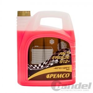 [2,80€/L] 5 Liter Pemco 912+ Kühler Frostschutz bis -40°C/ rosa/ rot/ violett