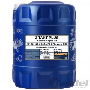 20 Liter Mannol 2-Takt Plus Motoröl/ Mischöl teilsynthetisch / 2T Öl