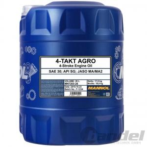 20 Liter MANNOL SAE 30 4-TAKT AGRO MOTORÖL API SG MOTORRAD SCOOTER
