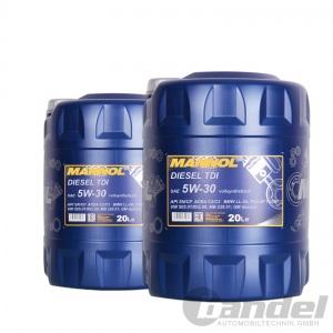 [3,05€/L] 2x20 Liter SAE 5W-30 MANNOL Diesel TDI Motoröl VW, BMW, Opel, Mercedes