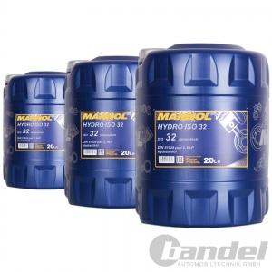 [1,71€/L] 3x 20 Liter HLP 32 Hydrauliköl/ Hydraulikflüssigkeit/ Hydraulikfluid