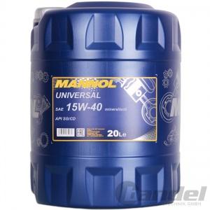 [1,95€/L] 20 Liter MANNOL SAE 15W40 Universal Motoröl mineralisch für API SG/CD