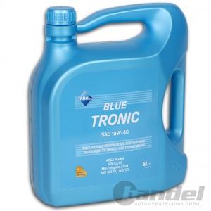[5,58€/L] 5L ARAL BlueTronic 10W-40 Motoröl VW 501 01 / 505 00, MB 229.1