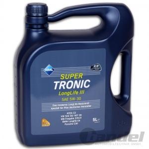 [7,18€/L] 5 Liter ARAL SuperTronic LongLife 3 5W-30 Motoröl LL3 VW 507.00 504.00