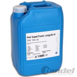 [4,50€/L] 20 Liter Kanister ARAL SuperTronic LongLife 3 5W-30 Öl Motoröl LL3