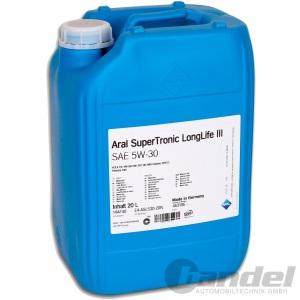 20 Liter Kanister ARAL SuperTronic LongLife 3 5W-30 Öl Motoröl LL3