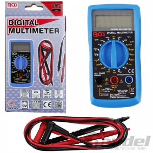 BGS DIGITAL-MULTIMETER MESSGERÄT AC/DC 250V VOLT-/AMPERE-METER 10A +PHASENPRÜFER Pic:1
