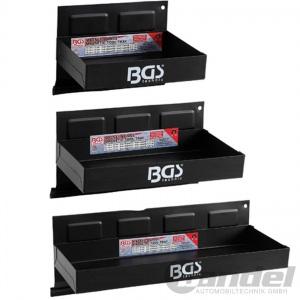BGS MAGNET-ABLAGEN-SET MAGNETHALTER für WERKSTATTWAGEN 3-teilig 150-210-310mm