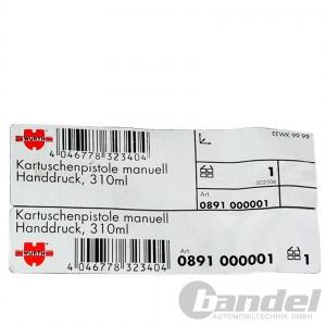 WÜRTH KARTUSCHENPRESSE 310ml STANDARD FUGEN-/ SILIKONSPRITZE + FUGENGLÄTTER SET Pic:3