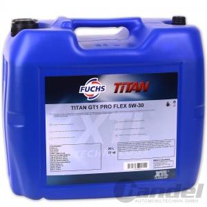 [5,50€/L] 5 LITER FUCHS TITAN GT1 PRO FLEX SAE 5W-30 MOTORÖL OPEL dexos 2