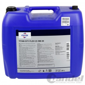 20 Liter FUCHS Titan GT1  Flex 23 5W30  BMW-LL04 VW 505 00 MB 229.51