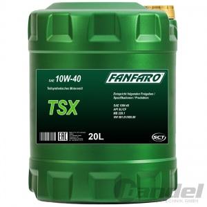 1x 20L FANFARO TSX 10W-40 TEILSYNTHETISCHES MOTORÖL API SL/CF MB 229.1