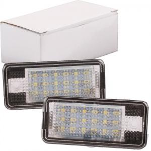 2x LED KENNZEICHENLEUCHTE FÜR AUDI A3 A4 A6 A8 Q7 NUMMERNSCHILDBELEUCHTUNG