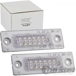 2x LED KENNZEICHENLEUCHTE für VW T5 T6 MULTIVAN GOLF CADDY JETTA III PASSAT 3C