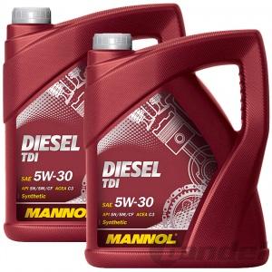 [3,65€/L] 10 Liter 5W-30 MANNOL  DIESEL MOTORÖL TDI API SN/SM/CF