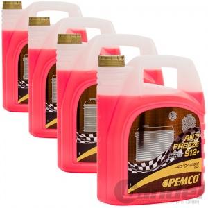 [1,85€/L] 20 Liter Pemco 912+ Kühler Frostschutz bis -40°C/ rosa/ rot/ violett