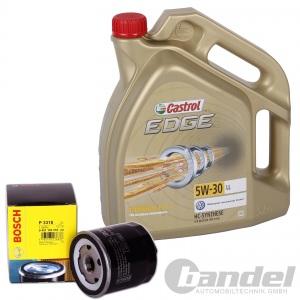 Bosch ÖLFILTER 0451103314 + 5 Liter MOTORÖL 5W-30 Castrol Edge VW AUDI SKODA