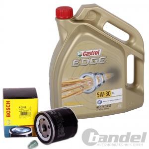 BOSCH ÖLFILTER + 5 Liter Motoröl CASTROL Edge 5W-30