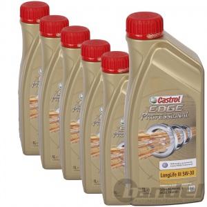 6x1 Liter Castrol Edge Professional  Longlife III 5W-30 5W30