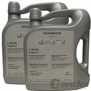 [7,49€/L] 2x 5 LITER ORIGINAL VW 5W-30 LONGLIFE III 3 MOTORÖL G052195M4