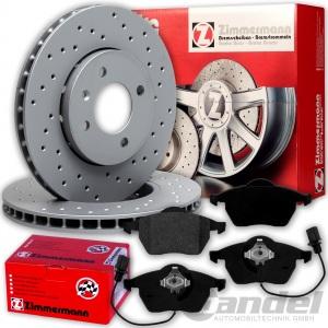 Bremsscheiben Bremsbeläge Audi A8 4E PR 1LL VW Phaeton 3D 1ZL vorne Zimmermann