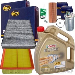 FILTER SET INSPEKTIONS PAKET+CASTROL 5W30 1.9+2.0 TDI AUDI A4 8E B6 8H B7