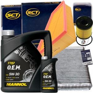 FILTERSET INSPEKTIONSKIT+MANNOL 5W30 ÖL 2.0 TDCI GALAXY S MAX WA6 MONDEO 4