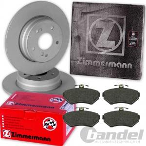 ZIMMERMANN BREMSSCHEIBEN 253mm + BELÄGE VORNE VW GOLF 3 PASSAT 35i CADDY 2