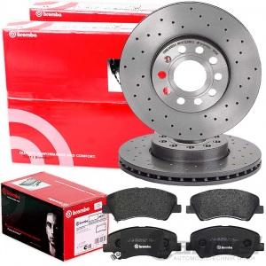 Bremsscheiben Bremsbeläge vorne für Fiat Doblo Cargo 223 1,3 1,9 JTD ab 10.05