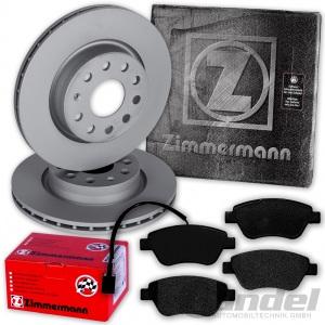 ZIMMERMANN BREMSSCHEIBEN 257mm + BELÄGE VORNE PEUGEOT BIPPER + CITROEN NEMO