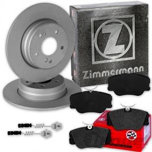 ZIMMERMANN BREMSSCHEIBEN + BELÄGE VORNE MERCEDES W124 C124 S124 E-KLASSE