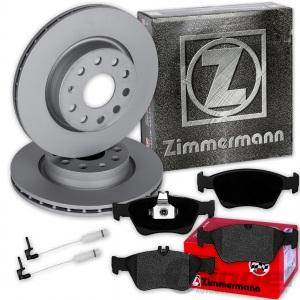 ZIMMERMANN BREMSSCHEIBEN + BELÄGE VORNE MERCEDES C/E-KLASSE W202 S202 W210 S210