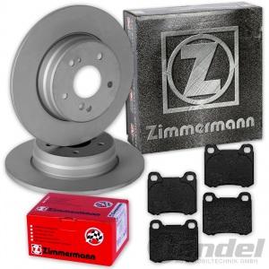 ZIMMERMANN BREMSSCHEIBEN 258mm + BELÄGE HINTEN MERCEDES C-KLASSE W202