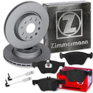 Zimmermann BREMSSCHEIBEN + BELÄGE VORNE MERCEDES E-KLASSE W210 S210 + CLK C/A208