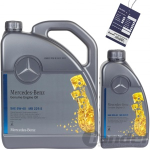 6L ORIGINAL OE 5W40 MERCEDES SYNTHETIC MOTORÖL ÖL 229.5 + ÖLZETTEL