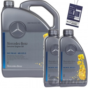 7L ORIGINAL OE 5W40 MERCEDES SYNTHETIC MOTORÖL ÖL 229.5 + ÖLZETTEL