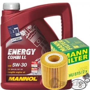 MANN ÖLFILTER+MANNOL 5w30 BMW 1er E81 E87 + 3er E46 E90 + Z4 E85 + X1 E84
