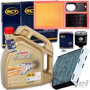 FILTERSET+CASTROL 5W30 ÖL 1.4+16V VW GOLF 6 CADDY 3 SEAT ALTEA 5P SKODA OCTAVIA
