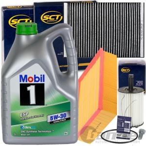 FILTERSET INSPEKTIONSPAKET+MOBIL 5W30 ÖL 2.0 TDI SEAT EXEO 3R2 3R5 AUDI A4 B7