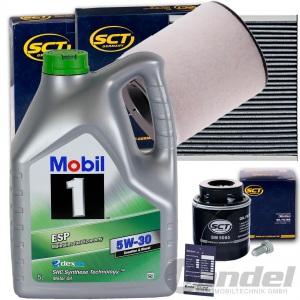 FILTERSET+MOBIL 1 5W30 ÖL 1.2+1.4 TSI TFSI VW POLO 6R AUDI A1 SAET IBIZA 4