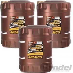 30 Liter Pemco 913+ Kühler Frostschutz bis -40°C/ gelb BMW JAGUAR SAAB