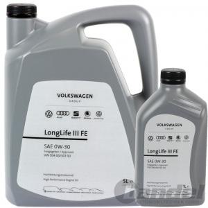 6-Liter ORIGINAL VW LONGLIFE III FE ÖL 0W-30 ersetzt 5W-30 MOTORÖL 50400 50700