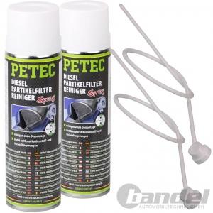 2x PETEC DPF DIESEL PARTIKELFILTER REINIGER SPRAY 400ml // SCHNELL UND EFFEKTIV