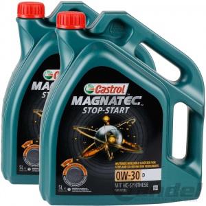 2x 5L CASTROL MAGNATEC STOP-START 0W-30 D FORD EDGE MONDEO GALAXY S-MAX DIESEL