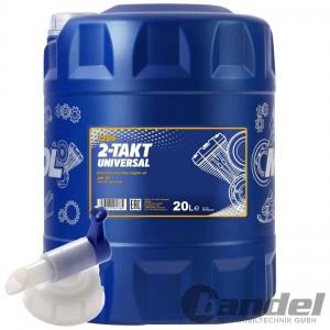 20 Liter MANNOL 2-Takt UNIVERSALl MISCHÖL + HAHN MINERALISCH / 2T ÖLl