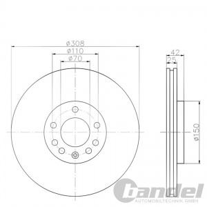 bremsscheiben 308mm bremsbel ge vorne hinten opel. Black Bedroom Furniture Sets. Home Design Ideas