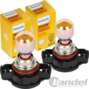2x PHILIPS PSY24W SILVERVISION GLÜHLAMPE ORANGE GELB CHROM BLINKER PG20/4 SOCKEL