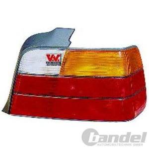 RÜCKLEUCHTE RECHTS BMW 3er E36 STUFENHECK 09/91/02-98 BLINKER FARBE GELB