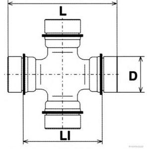 HERTH+BUSS KREUZGELENK REPARATUR-SATZ J2925000 MITSUBISHI L200 PAJERO 2
